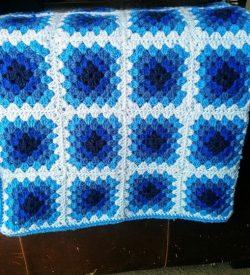 Crochet Blues Baby Blanket